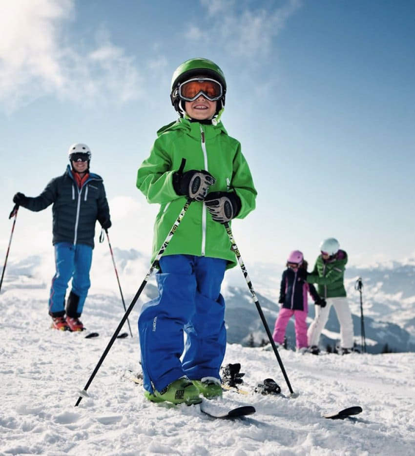 Family ski holiday in Wagrain © SalzburgerLand Tourismus